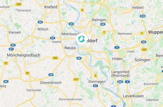 Düsseldorf Karte