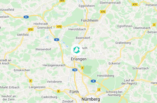 Erlangen Karte