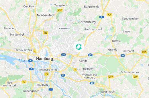 Hamburg-Barsbüttel Karte