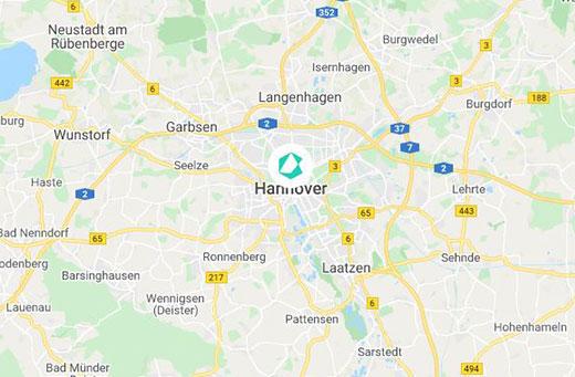 Hannover Karte