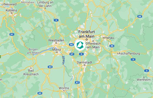 Frankfurt Karte